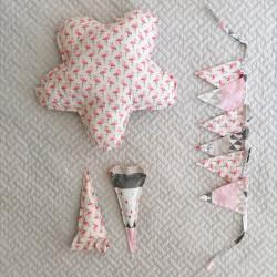 Kit déco tipi - Flamands rose